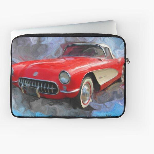 Red 57' Corvette Convertible Laptop Sleeve