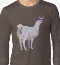 Cool Llama In Sunglasses Long Sleeve T-Shirt