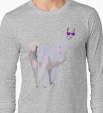 Cool Llama In Sunglasses Long Sleeve T-Shirt