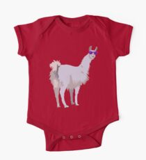 Cool Llama In Sunglasses One Piece - Short Sleeve