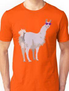 Cool Llama In Sunglasses Unisex T-Shirt