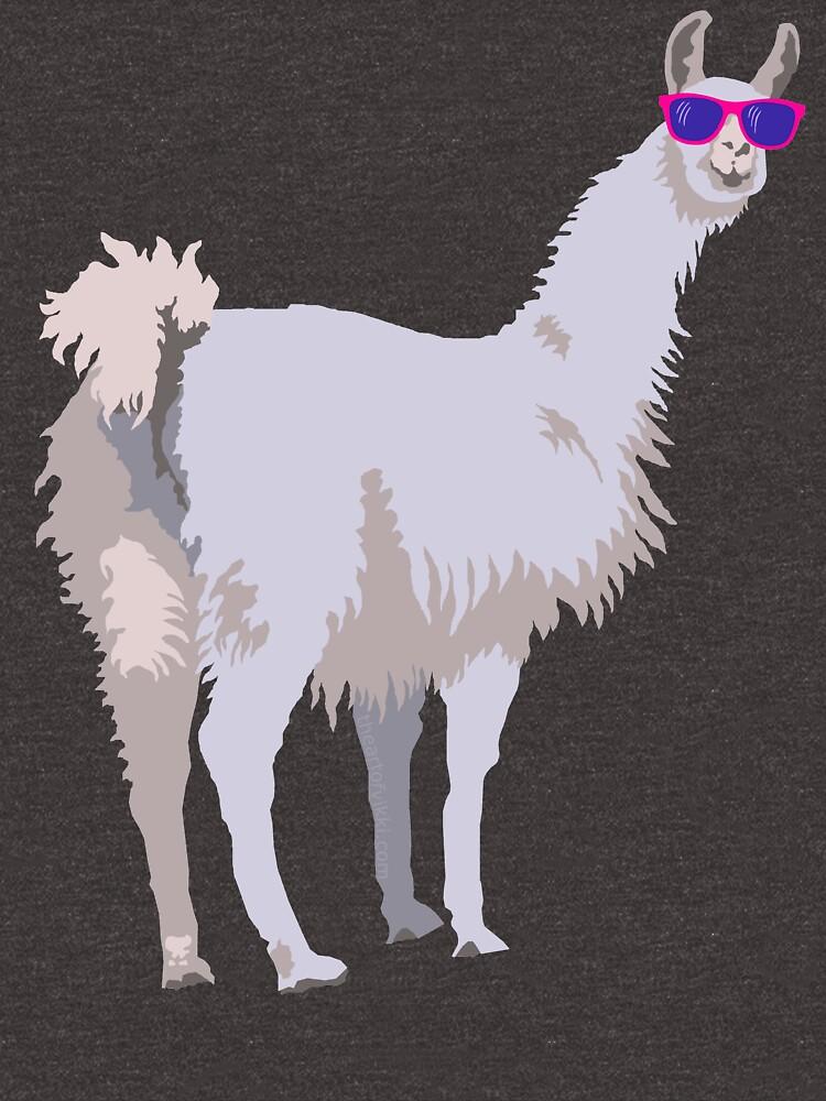 Cool Llama In Sunglasses by theartofvikki