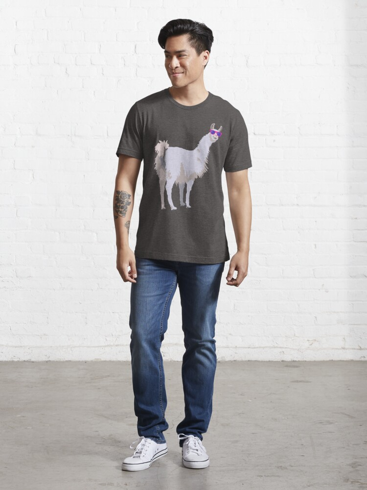Alternate view of Cool Llama In Sunglasses Essential T-Shirt