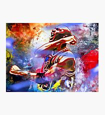 Michael Jordan Painted Photographic Print
