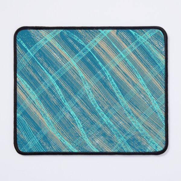 Turquoise Rake Design Mouse Pad