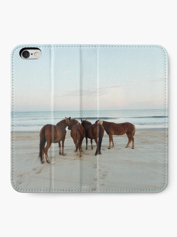 Alternate view of Coastal Horse Meeting iPhone Wallet