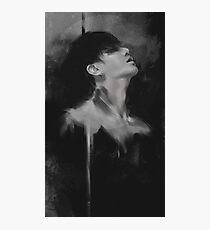 Black ink Jungkook Photographic Print