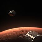 SpaceX Red Dragon at Mars by zlsa