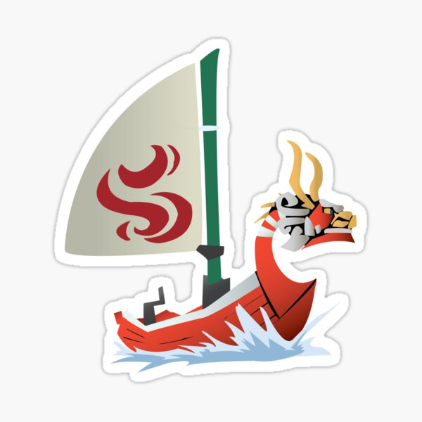 King of the Red Lions Sticker