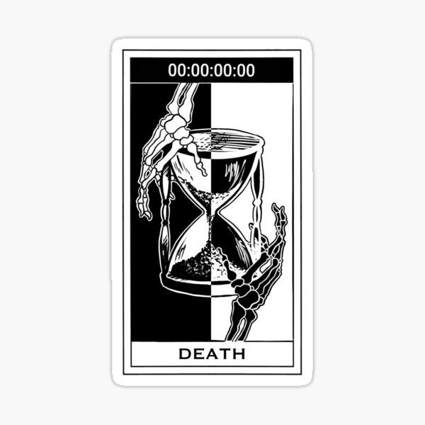 Unus Annus inspired Memento Mori Tarot Card Sticker