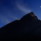 Moon Over Mount St. Helens. by Alex Preiss