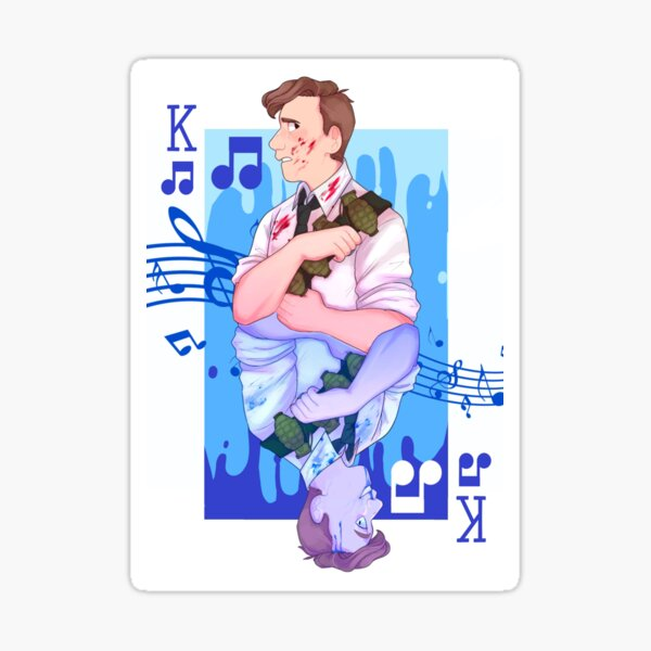 Der Typ, der Musicals nicht mochte (TGWDLM) King Card Sticker