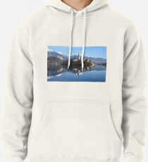 Church on island at Lake Bled Slovenia Pullover Hoodie