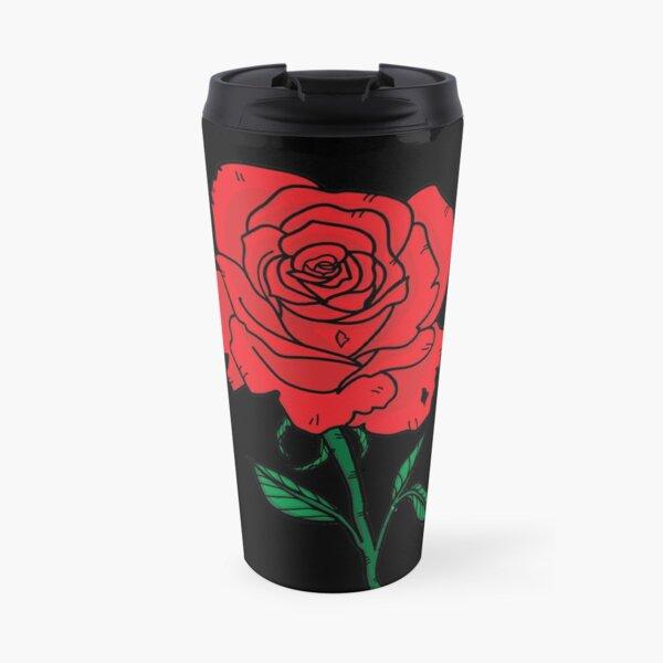 Rose Flower Travel Mug
