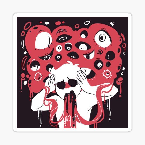 """""""Achte auf deine Worte"""" Angst-inspiriert Sticker"""