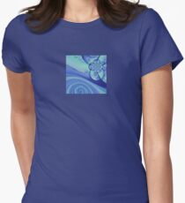 Lightness in Blue Womens Fitted T-Shirt