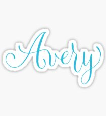 Avery - Modern Calligraphy Name Design Sticker