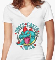 Dance Pokemon Dance Women's Fitted V-Neck T-Shirt