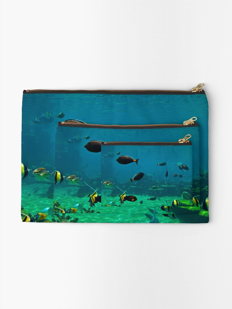 Alternate view of Fish Tank Zipper Pouch
