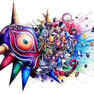 Zelda - Máscara de Majora de sandraink