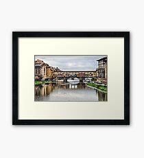 Ponte Vecchio. Framed Print