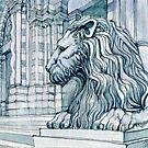 The Lion of S. Lorenzo, Genoa by Luca Massone  disegni
