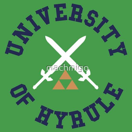 TShirtGifter presents: University of Hyrule   Unisex T-Shirt