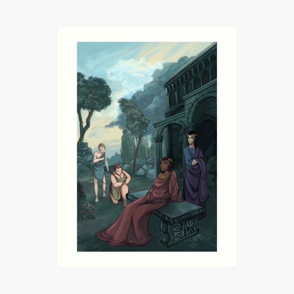 Allegory of the Kingdom of the Dead Art Print