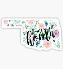 Home Sweet Homa Floral Oklahoma Sticker