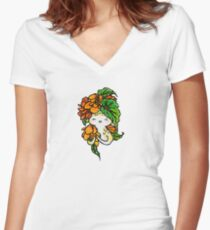Begonia Women's Fitted V-Neck T-Shirt