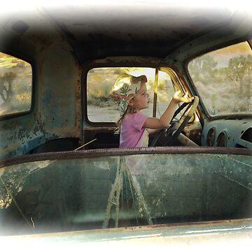 Lilly Driving Old Desert Truck by pberggr1