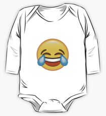 Laughing Crying/Tears of joy Emoji One Piece - Long Sleeve