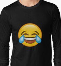 Laughing Crying/Tears of joy Emoji Long Sleeve T-Shirt