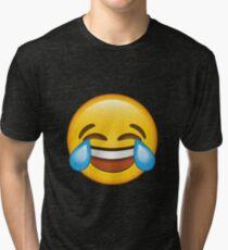 Laughing Crying/Tears of joy Emoji Tri-blend T-Shirt