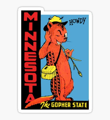 Minnesota The Gopher State Vintage Travel Decal Sticker