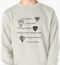 Love is patient...(with hearts) Pullover