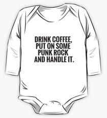 Kaffee, Punkrock, handle es Baby Body Langarm