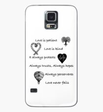 Love is patient...(with hearts) Case/Skin for Samsung Galaxy