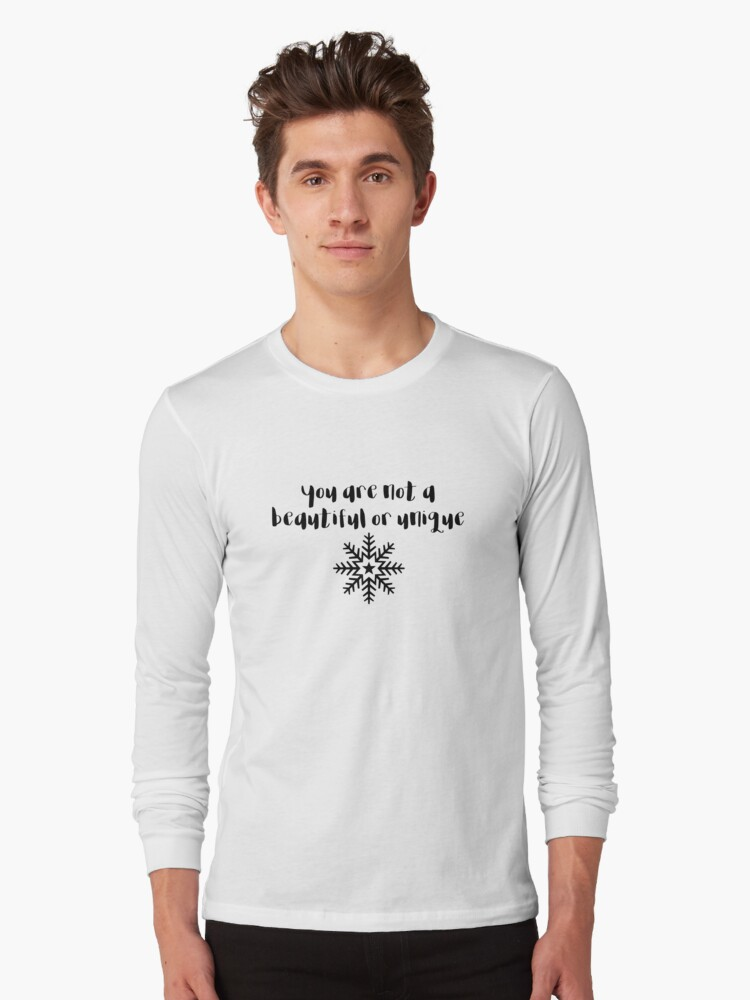 Fight Club - You are not a beautiful or unique snowflake Long Sleeve T-Shirt Front