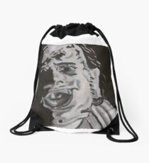 Leather face Drawstring Bag