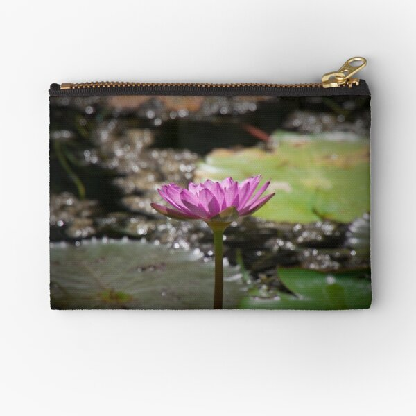 Water Lilly Zipper Pouch