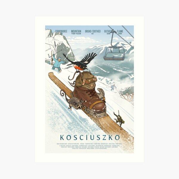 Kosciuszko Flyers - Kosciuszko poster series, #3 Art Print