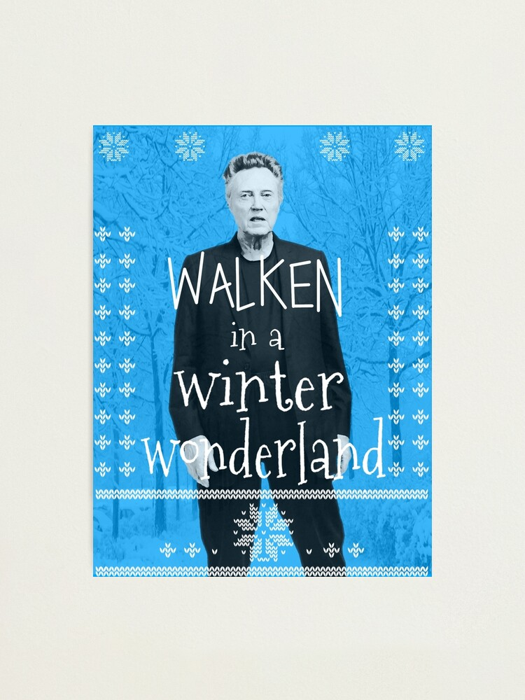 Alternate view of Walken Ugly Sweater Photographic Print