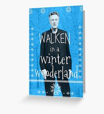 Walken Ugly Sweater Grußkarte