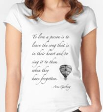 Beautiful quote on love Women's Fitted Scoop T-Shirt