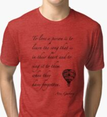 Beautiful quote on love Tri-blend T-Shirt