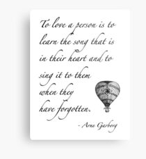 Beautiful quote on love Metal Print
