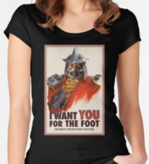 Foot clan recruitment tee Women's Fitted Scoop T-Shirt