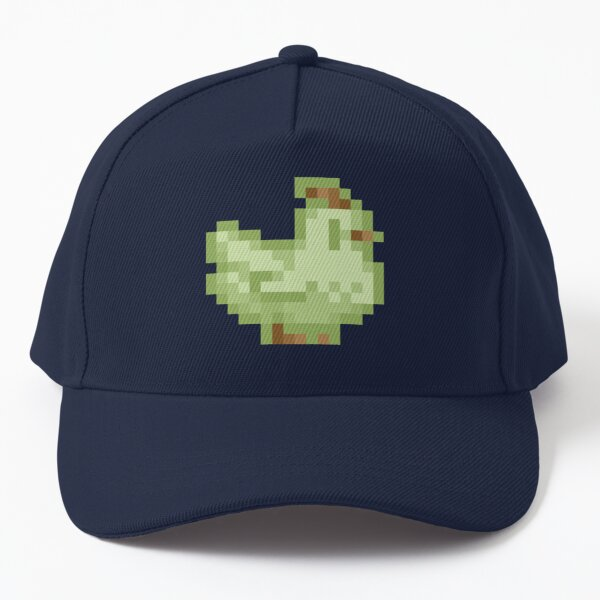 Cute Stardew Valley Lime Ice Cream Chicken with Waffle Cone Baseball Cap