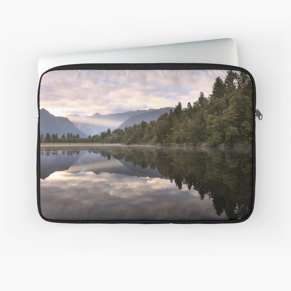 Lake Matheson Dawn, South Island, New Zealand Laptop Sleeve